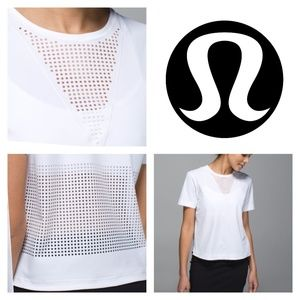 Lululemon Perfectly Perfed Tee Shirt White Size 8
